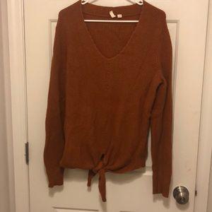 Anthropologie rust sweater
